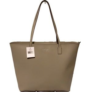 🌸 KATE SPADE SOFT TAUPE 🌸 FELICITY STREET LEATHER TOTE MSRP $279